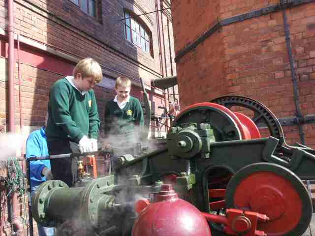 Abbotsholme School Year-6 pupils experience the joys of steam power